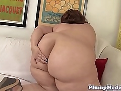 Solo ssbbw with massive tits toying her pussy