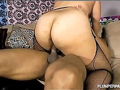 Busty Plumper Jane Kush is Fucked N Banged By Big Black Cock