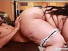 SSBBW Maid Anastasia Sucks and Fucks Master of the House