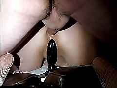 BBW  HUGE DILDO COCK DP