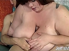 Heavyweight Lexxxi Luxe fucks a guy silly with her giant tits